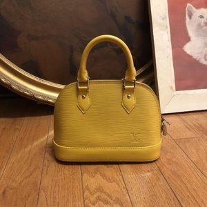 Authentic Louis Vuitton Epi Alma BB Citron